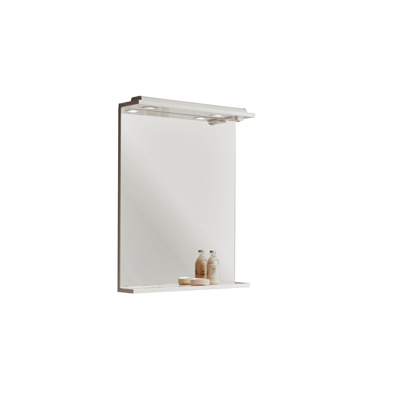 Miroir lumineux avec spot, l.60 Galice | Leroy Merlin