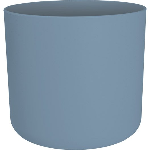 cache pot plastique elho x x cm bleu vintage leroy merlin. Black Bedroom Furniture Sets. Home Design Ideas