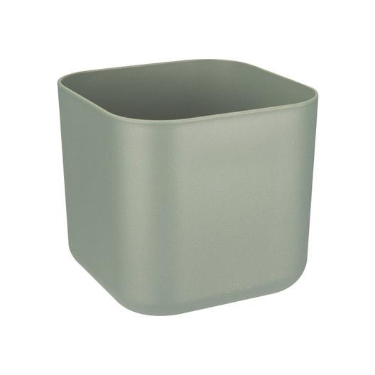Cache-pot plastique ELHO Diam.16.1 L.16.1 x l.16.1 x H.14.9 cm vert ...