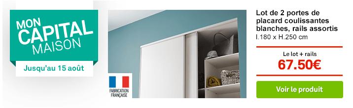 OP Juillet 2 - mon capital maison - kit dressing blanc modul eco