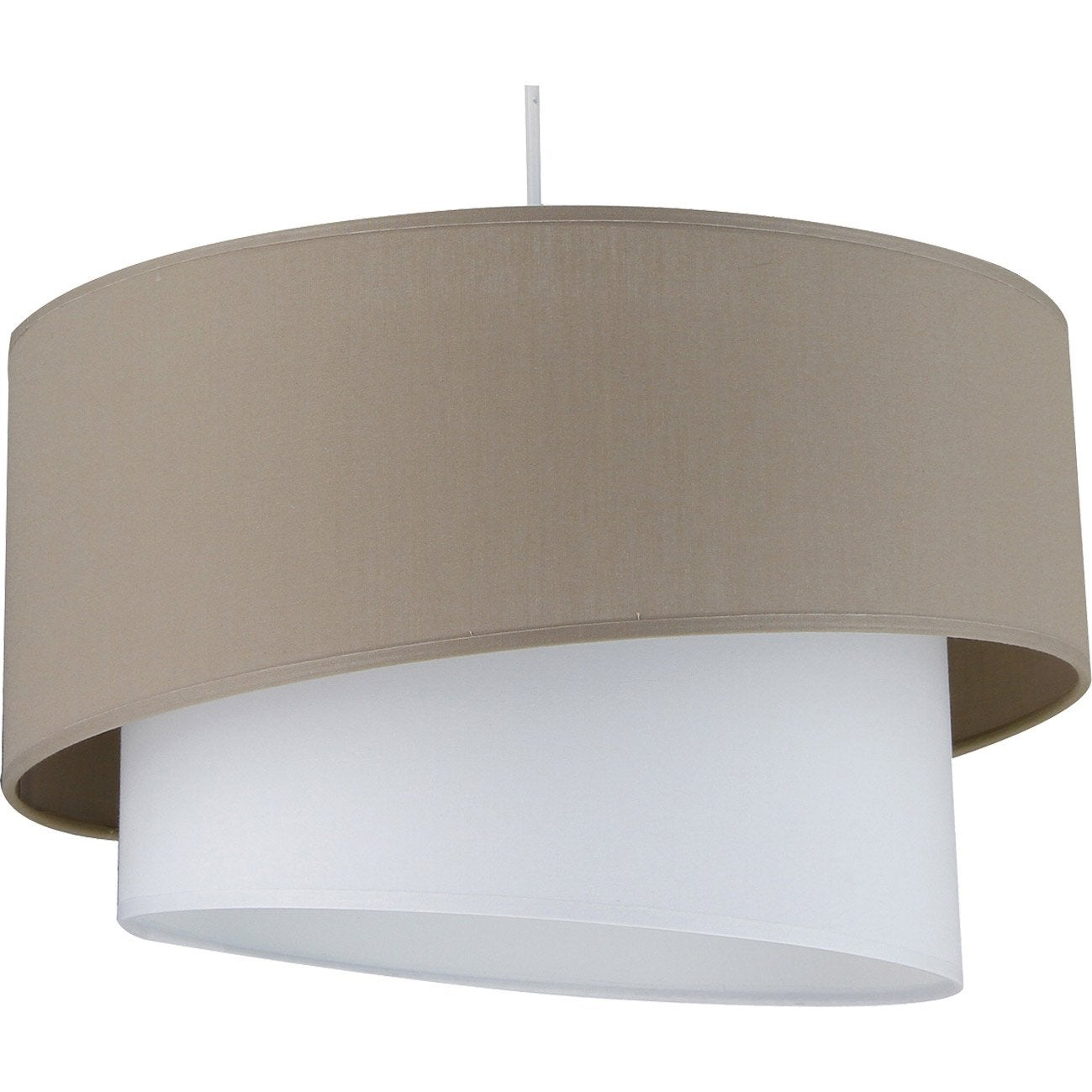 Suspension, e27 design Ionos coton brun taupe n°3 1 x 60 W METROPOLIGHT