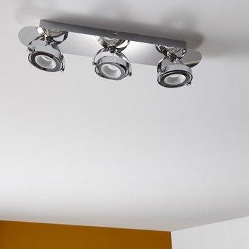 Rampe 3 spots LED intégrée led, 3, chrome Xena INSPIRE