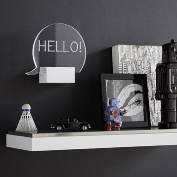 Applique, led intégrée Hello, 1 x 5 W, acrylique transparent, INSPIRE