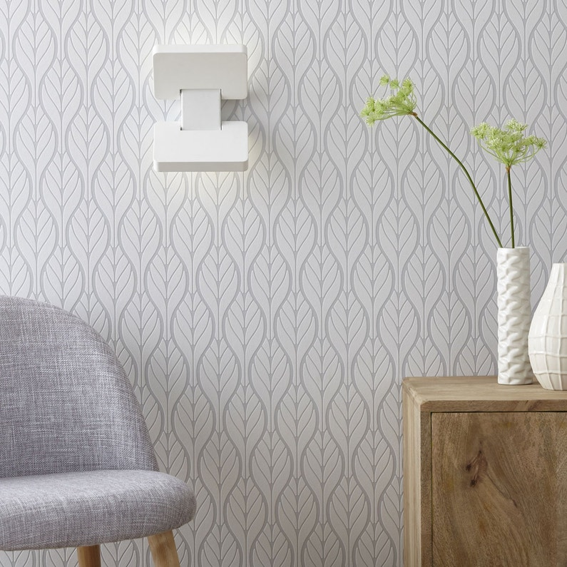 Applique Avec Liseuse Moderne Led Intégrée Chain Métal Blanc 2 Inspire