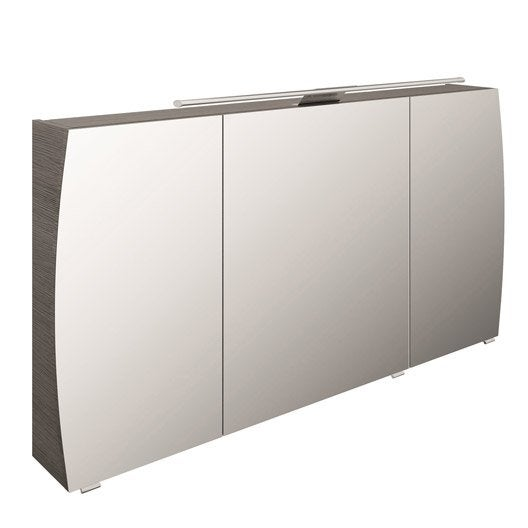 armoire de toilette lumineuse l 140 cm gris image. Black Bedroom Furniture Sets. Home Design Ideas