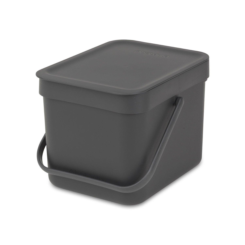 Maison Cuisine Metal Poubelle En Plastique 40 L One Touch Ordures