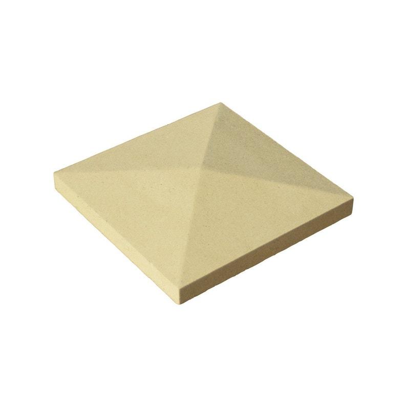 Chapeau De Pilier Pointe De Diamant 40 X 40 Cm Ton Pierre