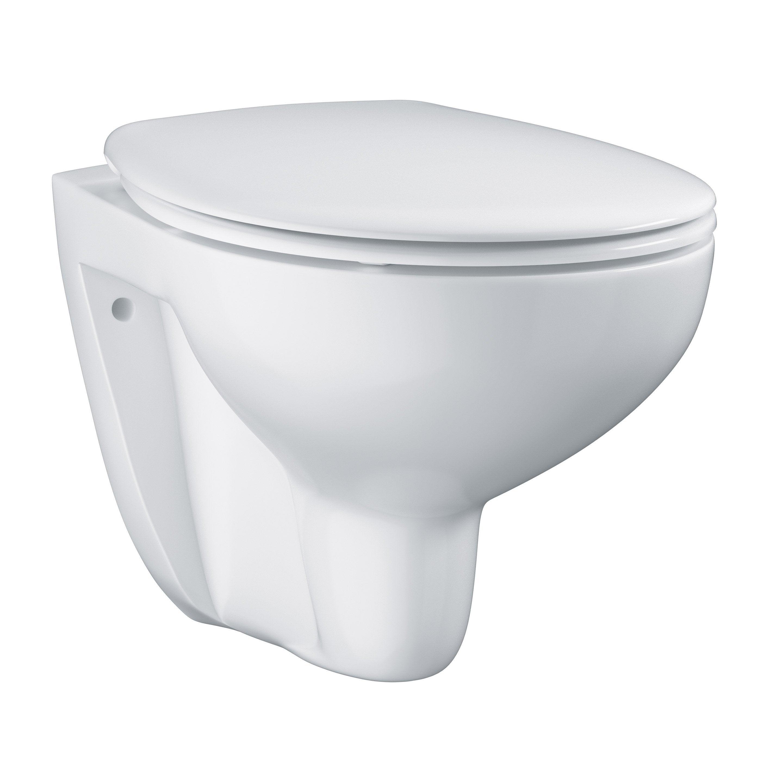 Comment Installer Un Wc Suspendu Grohe wc suspendu bau ceramic grohe, blanc alpin