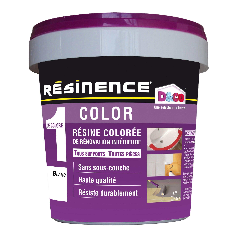 Resine Pour Peindre Meuble Bois résine colorée color resinence, blanc, 0.25 l