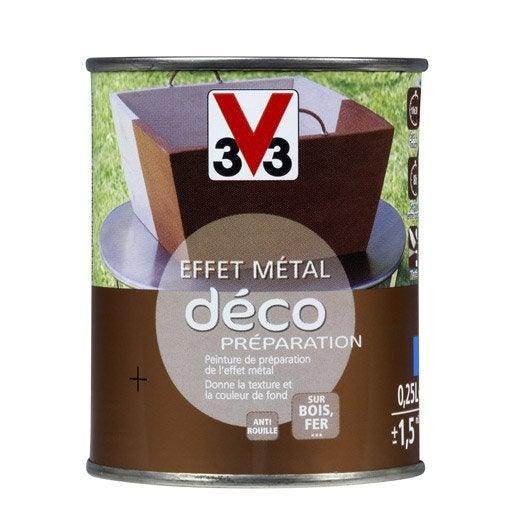 Peinture de finition effet m tal ext rieur d co v33 - Leroy merlin peinture effet metal ...