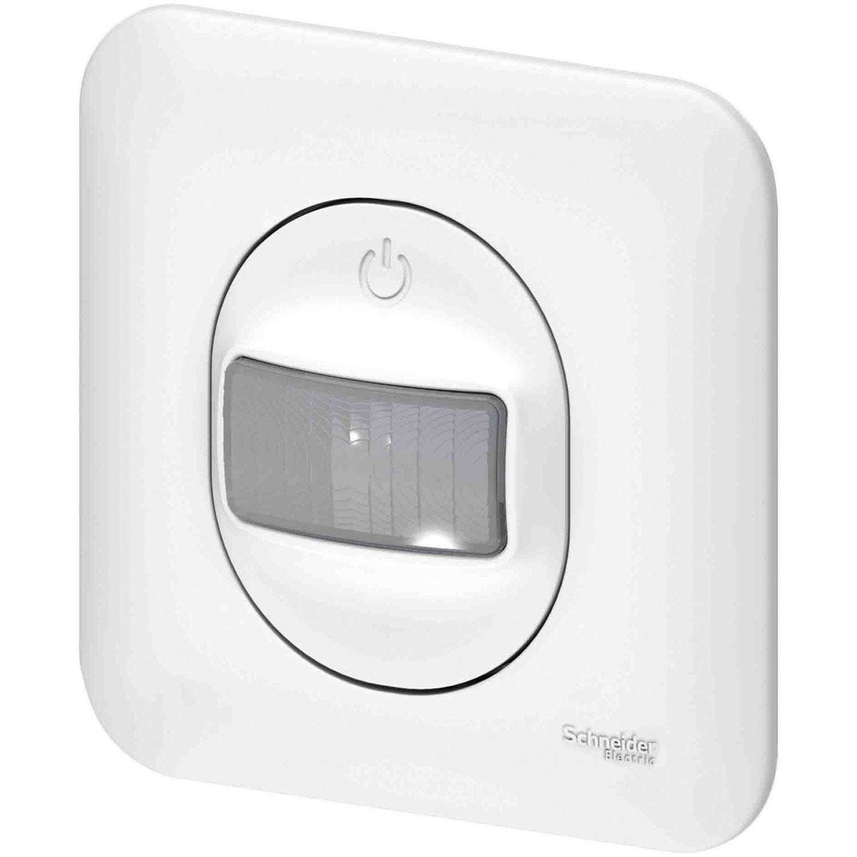 interrupteur automatique ovalis blanc schneider electric. Black Bedroom Furniture Sets. Home Design Ideas