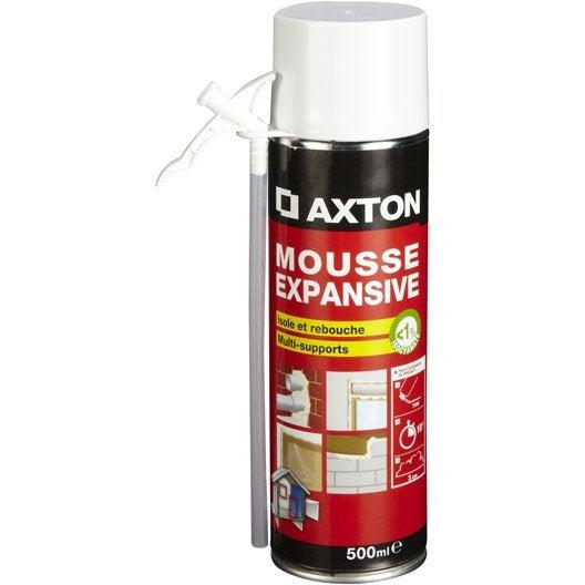 Mousse expansive isoler et reboucher axton x mm for Enlever mousse expansive sur les doigts