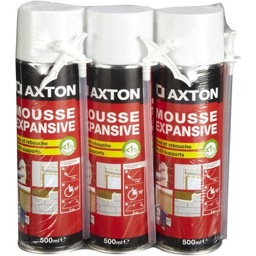 mousse polyur thane axton 1500 ml. Black Bedroom Furniture Sets. Home Design Ideas