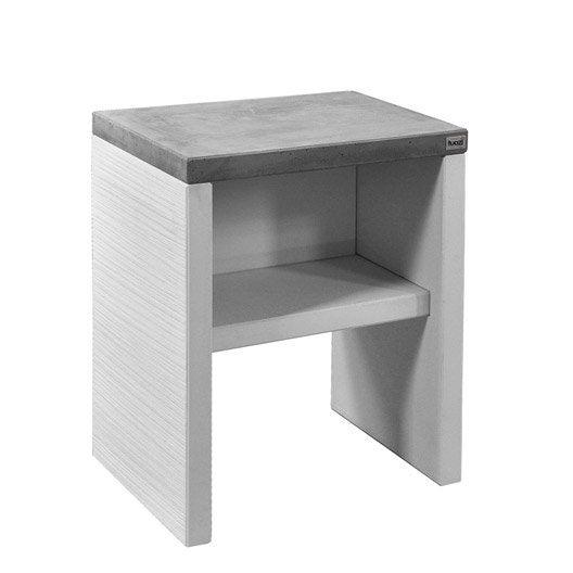Plan de travail en b ton blanc et gris x x for Plan de travail exterieur en beton