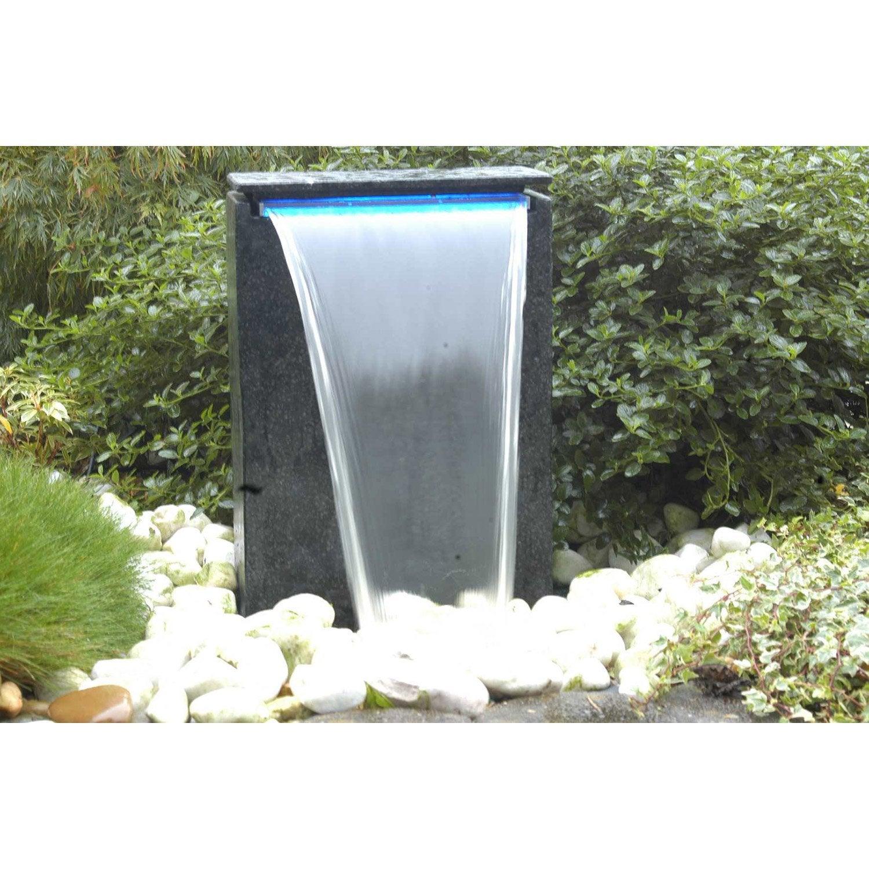 Kit fontaine UBBINK Vicenza cascade + pompe, noir, H.48 cm | Leroy ...