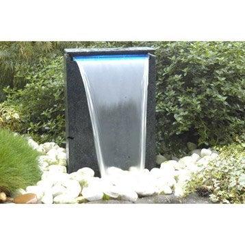 Kit fontaine UBBINK Vicenza cascade + pompe, noir, H.48 cm