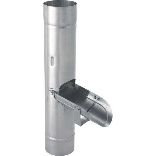 R cup rateur d 39 eau en zinc diam 80mm leroy merlin - Recuperateur d eau pluviale ...