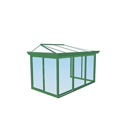 V randa en kit benodet toiture croupe gamme tradition larg 2 4 x p 2 1 m - Toiture veranda leroy merlin ...