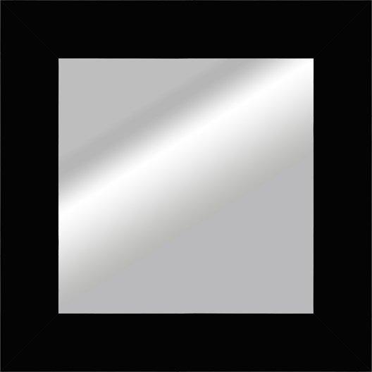 Miroir okaasan noir x cm leroy merlin for Miroir largeur 40 cm