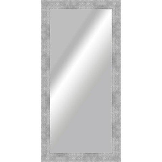 Miroir okaasan argent x cm leroy merlin for Miroir 140 cm