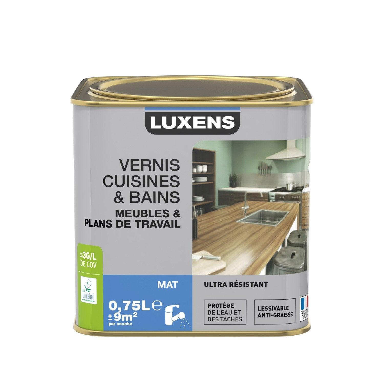 vernis cuisine et bain vernis cuisine et bains luxens l incolore leroy merlin. Black Bedroom Furniture Sets. Home Design Ideas