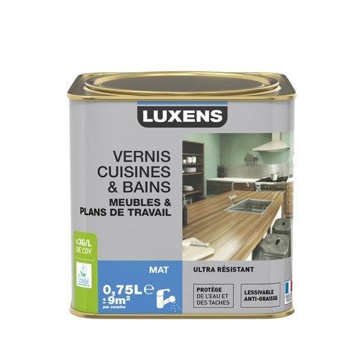 Vernis cuisine et bain luxens m t incolore for Peinture pour bois verni
