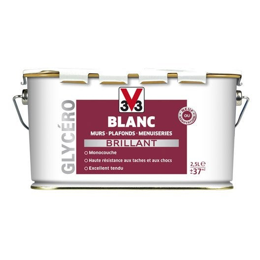 Peinture v33 brillant 2 5 l leroy merlin for Machine carrelage monocouche