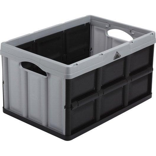 Casier pliable ursus plastique x x cm for Caisse rangement plastique leroy merlin