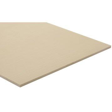 Panneau fibre composite teinté masse naturel, Ep.10 mm x L.250 x l.122 cm