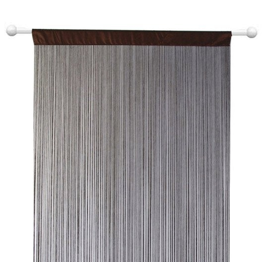 rideau spaghetti chocolat x cm leroy merlin. Black Bedroom Furniture Sets. Home Design Ideas