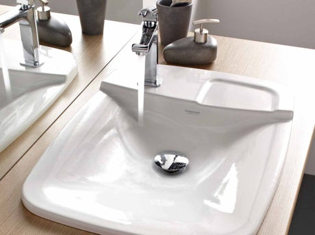 Bien choisir sa vasque ou son lavabo leroy merlin for Pose vasque sur plan