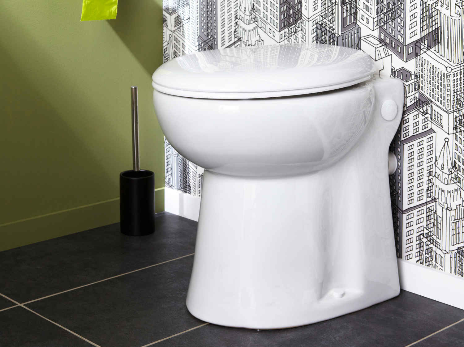 Wc abattant et lave mains leroy merlin - Comment installer un wc broyeur ...