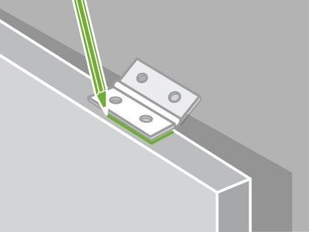 Comment poser les charni res d une porte de meuble for Poser une porte coulissante en applique
