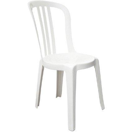 Chaise de jardin en résine Miami blanc