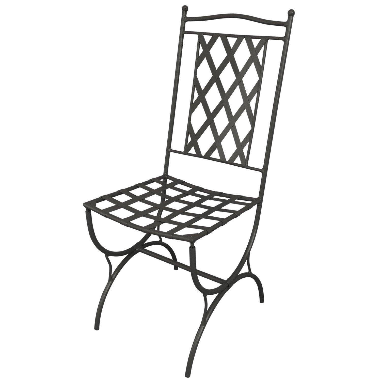 Chaise de jardin en inox Marocco anthracite   Leroy Merlin