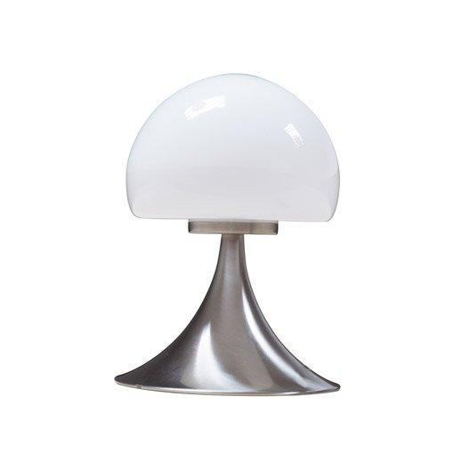 Lampe tactile mushroom inspire verre blanc 28w - Leroy merlin lampe de chevet ...