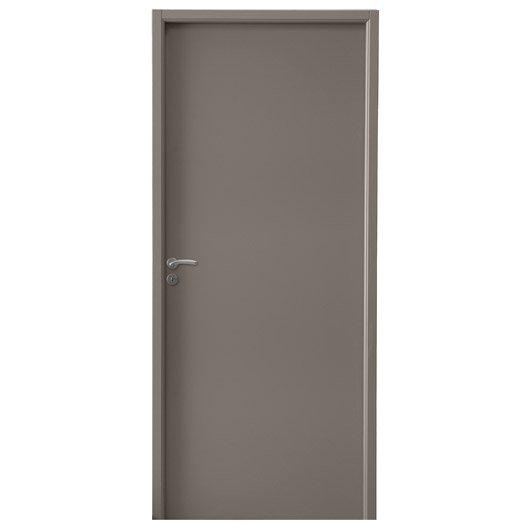 Bloc porte m dium mdf borgo brun taupe n 3 x for Dimension bloc porte 83