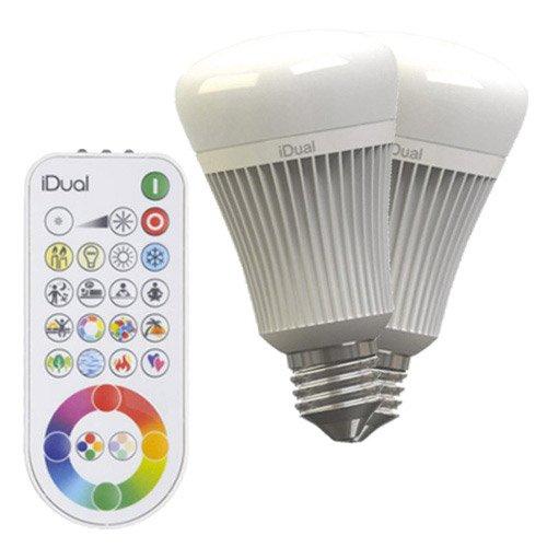 2 ampoules LED à changement de couleurs + télécommande 11.5W E27 Idual JEDI
