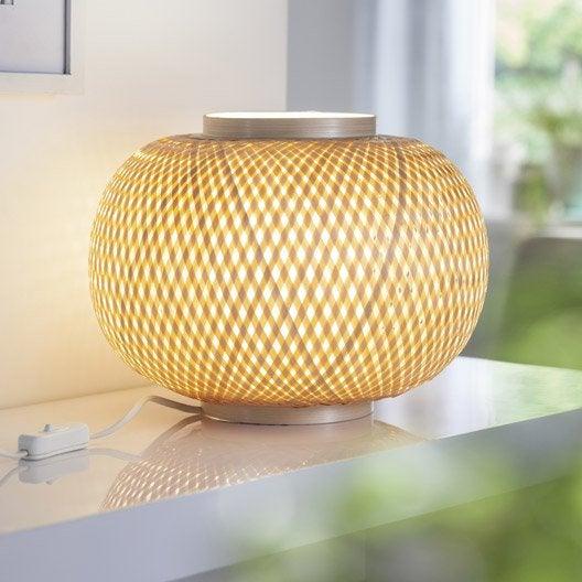 lampe e27 utaka inspire bambou naturel 40 w leroy merlin. Black Bedroom Furniture Sets. Home Design Ideas