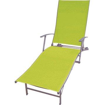 Bain de soleil de jardin en acier Zen vert