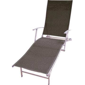 bain de soleil de jardin en acier zen gris - Bains De Soleil Pas Cher