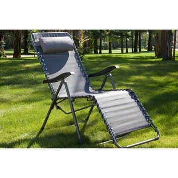 Relax de jardin en aluminium Néo gris