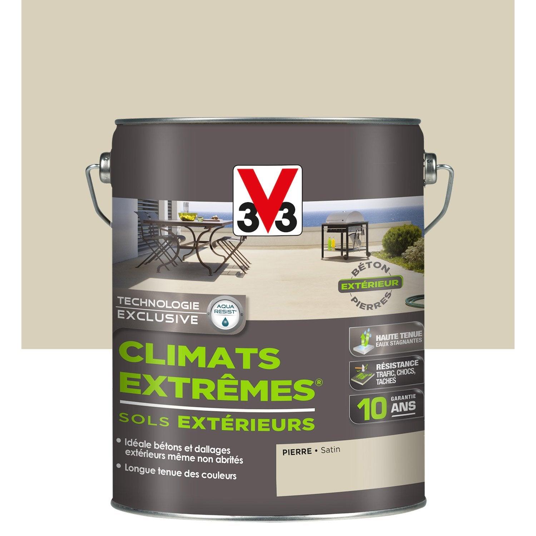 Peinture Sol Exterieur Climats Extremes V33 Pierre 5l Leroy Merlin