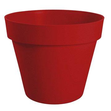 Pot polypropylène EDA Diam.60 L.60 x l.60 x H.47 cm rouge rubis