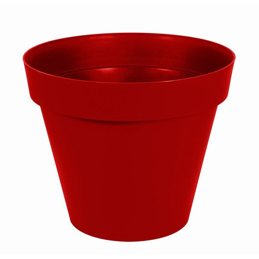 Pot plastique EDA Diam.80 x H.67 cm rouge rubis