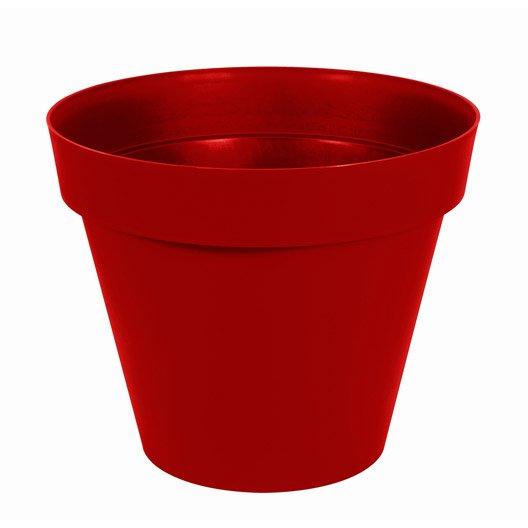 Pot polypropylène EDA Diam.80 x H.67 cm rouge rubis