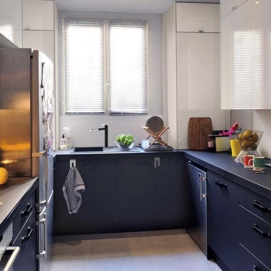 Meuble de cuisine noir delinia mat edition leroy merlin - Cuisine incorporee leroy merlin ...