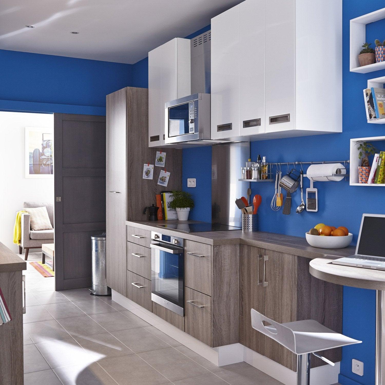 Leroy Merlin Cuisine 3D Gratuit meuble de cuisine décor chêne havane delinia topaze | leroy merlin