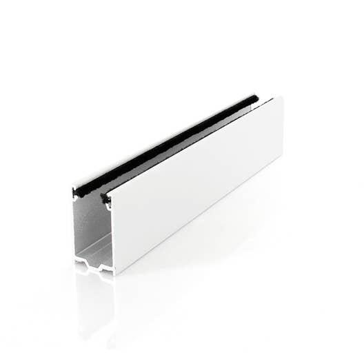 coulisse traditionnelle en alu blanc avec joint long leroy merlin. Black Bedroom Furniture Sets. Home Design Ideas