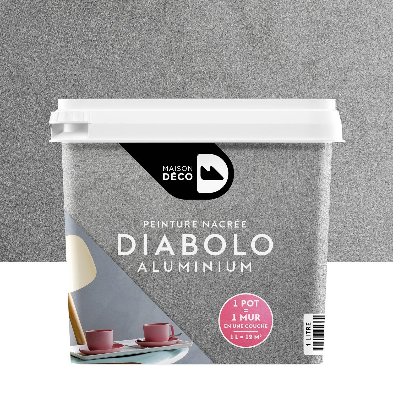 Peinture à Effet, Diabolo MAISON DECO, Aluminium, 1 L